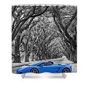 Color Your World - Lamborghini Gallardo Shower Curtain
