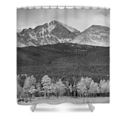 Colorado America's Playground In Black And White Shower Curtain
