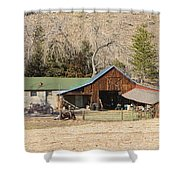 Colorado Barn Shower Curtain