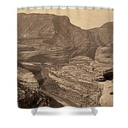 Colorado Canyons, 1872 Shower Curtain