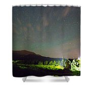 Colorado Chapel On The Rock Dreamy Night Sky Shower Curtain