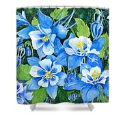 Colorado Columbines Shower Curtain