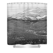 Colorado Continental Divide Panorama Hdr Bw Shower Curtain