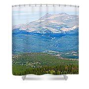 Colorado Continental Divide Panorama Hdr Crop Shower Curtain