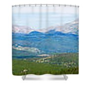 Colorado Continental Divide Panorama Hdr Shower Curtain