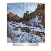 Colorado Creek Shower Curtain by Darren  White