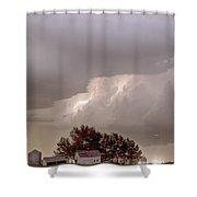 Colorado Farm Country Storm Shower Curtain