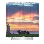 Colorado Farmers Sunset Shower Curtain