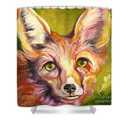 Colorado Fox Shower Curtain