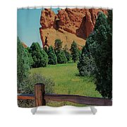 Colorado Garden Of The Gods From The Trail Shower Curtain