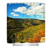 Colorado In Autumn Shower Curtain