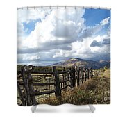 Colorado In Autumn Shower Curtain
