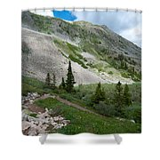 Colorado Mountain Landscape Shower Curtain