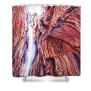 Colorado Mountains Garden Of The Gods Canyon Shower Curtain