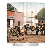 Colorado Pack Train Shower Curtain