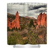 Colorado Red Rock Landcape Shower Curtain