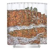 Colorado Red Sandstone Country Dusted With Snow Shower Curtain