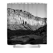 Colorado River Cliff Bw Shower Curtain