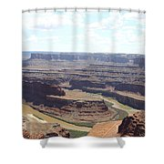Colorado River From Dead Horse Point  Shower Curtain