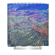 Colorado River From Walhalla Overlook On North Rim Of Grand Canyon-arizona Shower Curtain