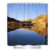 Colorado River Reflection Shower Curtain