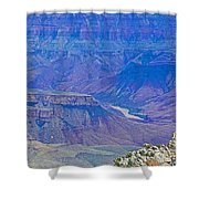 Colorado River Two At Cape Royal On North Rim Of Grand Canyon-arizona Shower Curtain