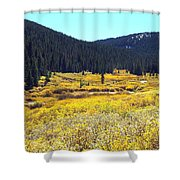 Colorado River Valley In Fall Shower Curtain