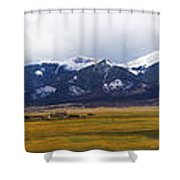 Colorado Rockies Panorama Shower Curtain