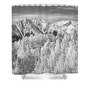Colorado Rocky Mountain Autumn Beauty Bw Shower Curtain