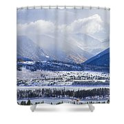 Colorado Rocky Mountain Autumn Storm Shower Curtain by James BO  Insogna
