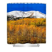 Colorado Rocky Mountain Independence Pass Autumn Pano 2 Shower Curtain