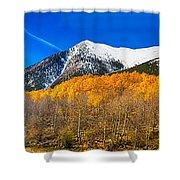 Colorado Rocky Mountain Independence Pass Autumn Panorama Shower Curtain
