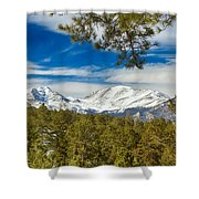 Colorado Rocky Mountain View Shower Curtain
