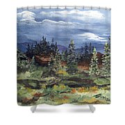 Colorado Skies Shower Curtain