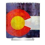 Colorado State Flag Weathered And Worn Shower Curtain