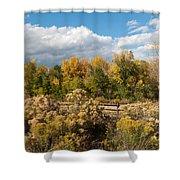 Colorado Urban Autumn Landscape Shower Curtain