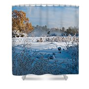 Colorado Waning Autumn And Approaching Winter Shower Curtain by Cascade Colors