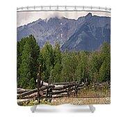Colorado Wilson Peak Clouds Shower Curtain