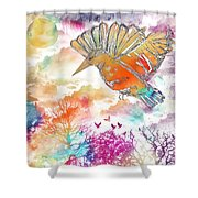 Colored Bird Shower Curtain