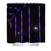 Colored Bridge At Night Shower Curtain