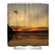 Colored Clouds Shower Curtain
