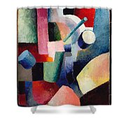 Colored Composition Of Forms   Shower Curtain