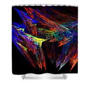 Colored Diamonds Shower Curtain