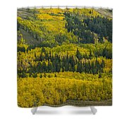 Colored Hillside Shower Curtain