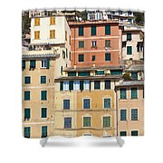 Colored Italian Facades Shower Curtain