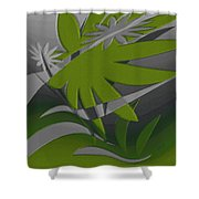 Colored Jungle Green Shower Curtain