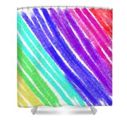 Colored Lines Shower Curtain