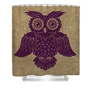 Colored Owl 1 Of 4  Shower Curtain