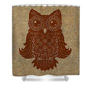 Colored Owl 2 Of 4  Shower Curtain