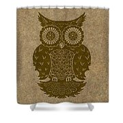Colored Owl 3 Of 4  Shower Curtain